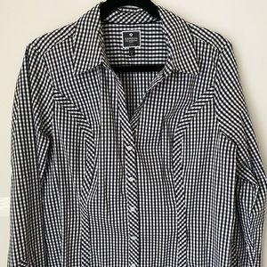 Express Womens Xl Long Sleeve Button Up Shirt